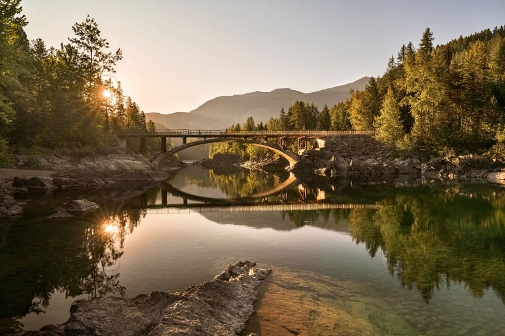 A River With A Bridge
