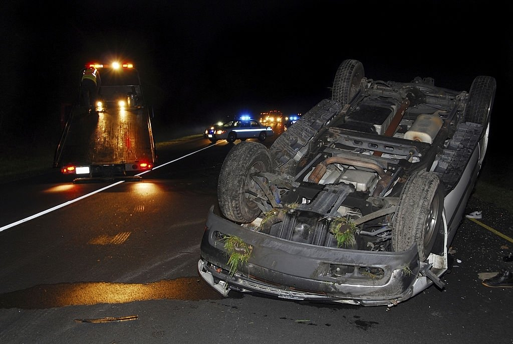 Car Crash And Rollover