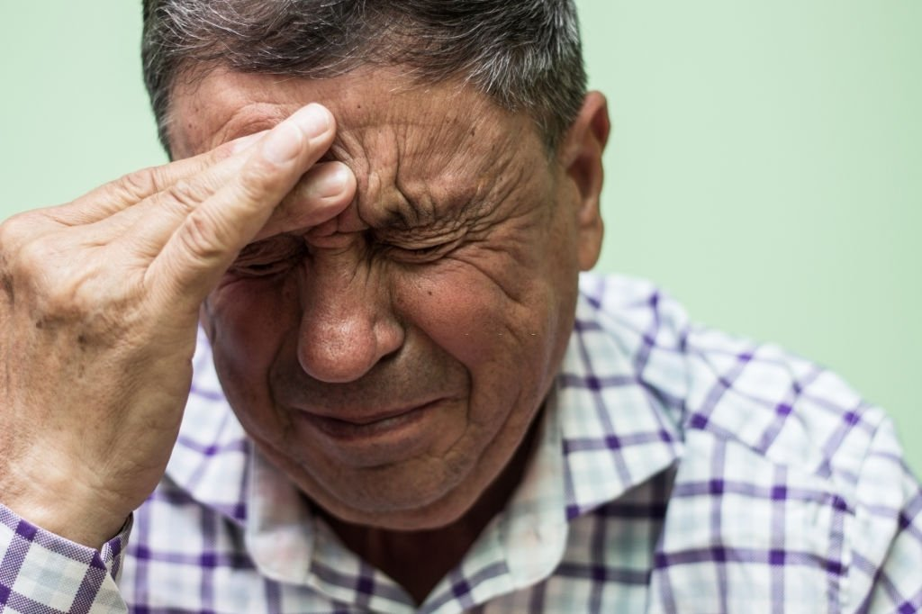 Crying Elderly Man