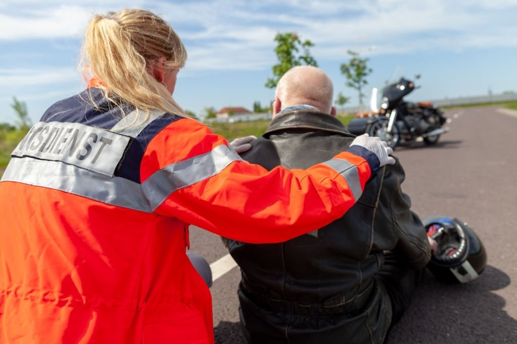 Helps Someone Injured In A Motorcycle Accident