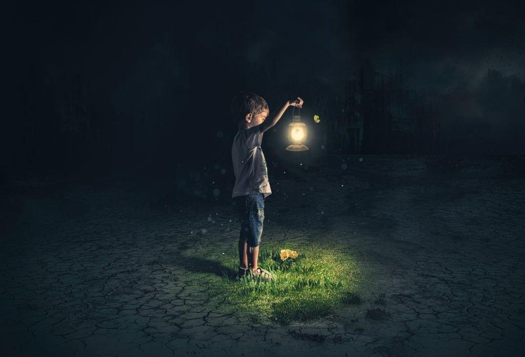 Holds A Lantern