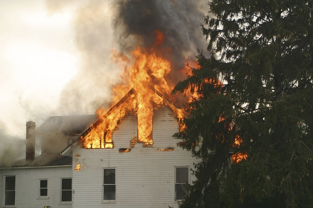 Big House Taking Fire