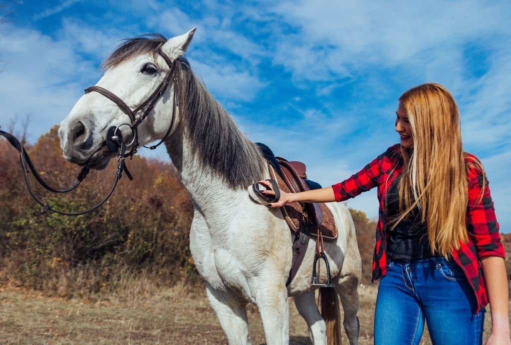 Caring A White Horse