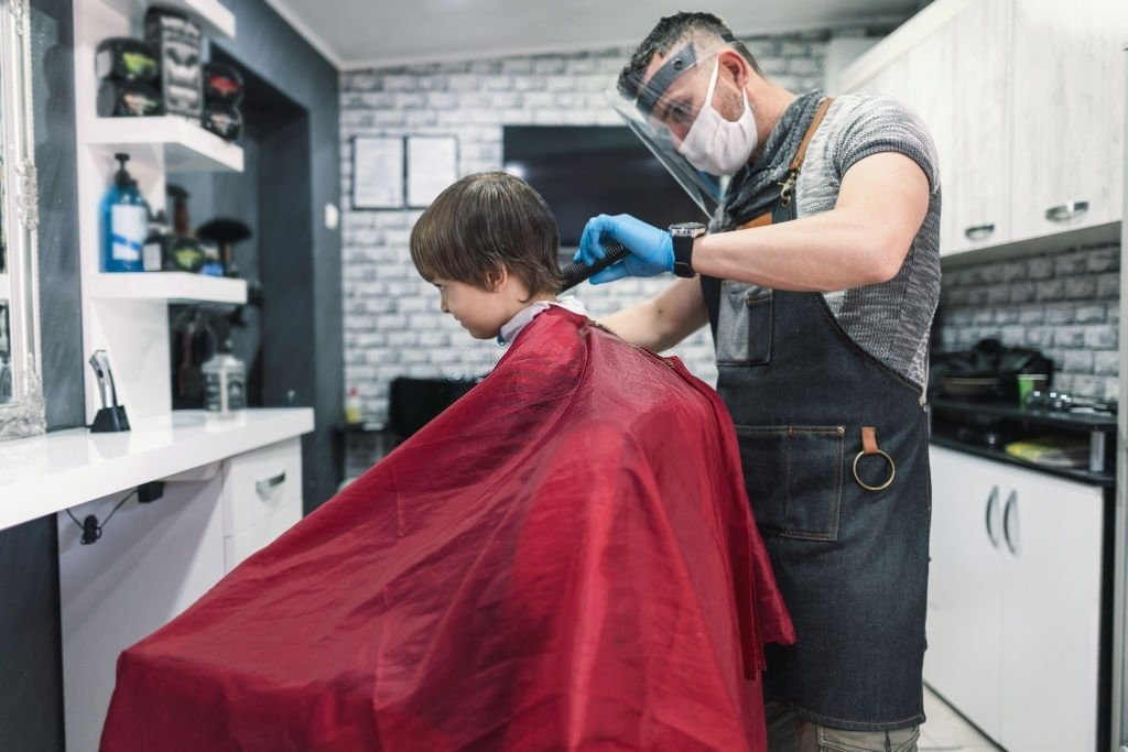 Cutting Hair In The Barber