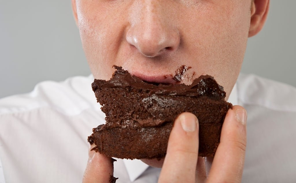 Eating Chocolate Cake