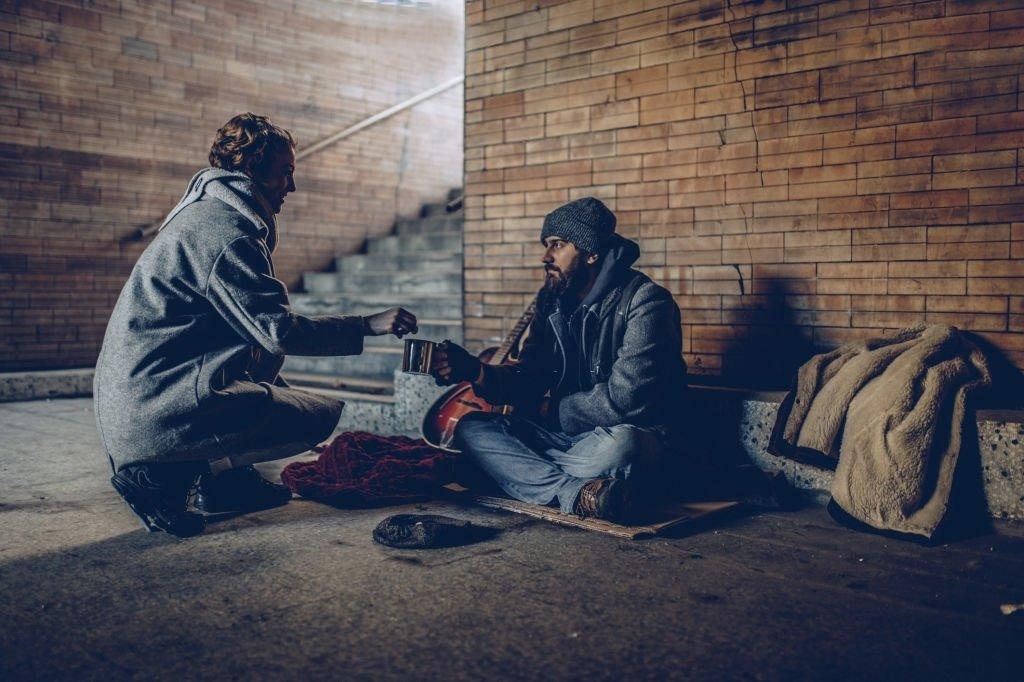 Helps A Beggar