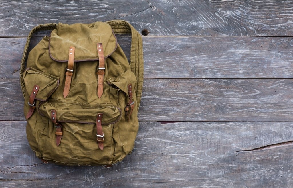 Old And Torn Backpack