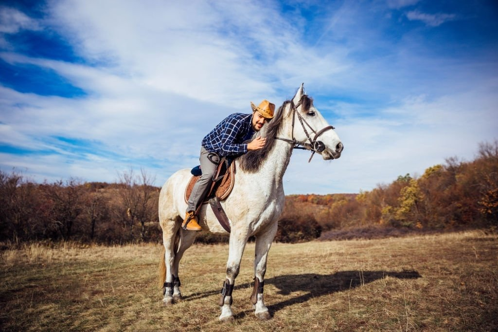 Riding On A White Horse