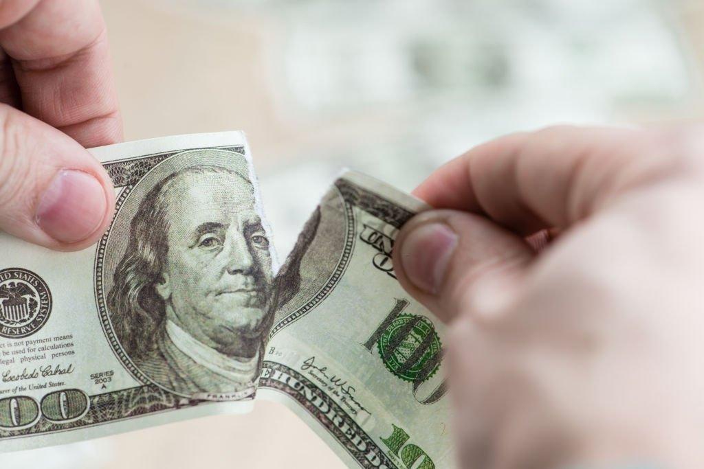 Torn Paper Money
